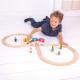 €32,95 Bigjigs houten trein set treinbaan hout treinset treinrail figure of 8