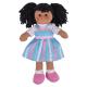 €11,89 Bigjigs stoffen pop Kira 28 cm lappen popje getint donker meisje