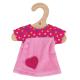 Bigjigs roze jurk met stippen (S)
