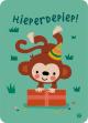 €1,25 Bora ansichtkaart Aap Jungle - Hieperdepiep postkaart verjaardagskaart wenskaart kaart