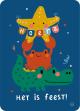 €1,25 Bora ansichtkaart Zee - Het is feest postkaart wenskaart kaart verjaardagskaart