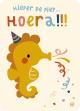€1.25 Bora ansichtkaart Zeepaard postkaart verjaardagskaart wenskaart kaart