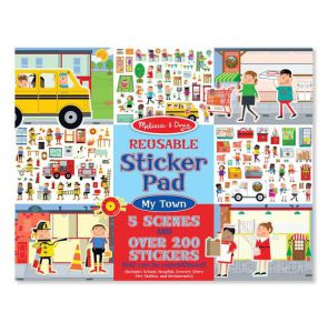 €6,89 Stickerboek herbruikbaar Melissa & Doug mijn stad stadsleven my town sticker herbruikbare reusable stickers raamstickers