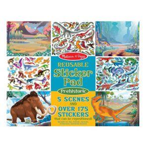 €6,89 Melissa & Doug groot herbruikbaar stickerboek met stickers Prehistorie Dinosaurus herbruikbare stickers raamstickers