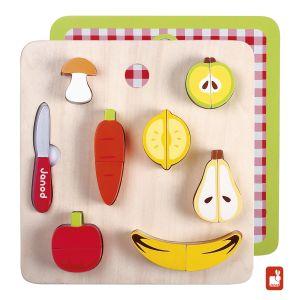€25,95 Janod magnetisch groente en fruit magneten chunky set hout houten