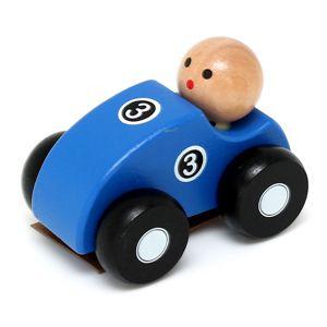 Jouéco houten raceauto blauw racewagen race auto wagen