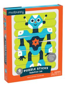 €17.99 Mudpuppy robot puzzel sticks 24 stukjes Puzzle sticks Robotics Lab