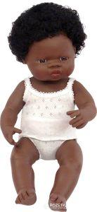 €29,95 Miniland pop Afrikaans meisje badpop 38 cm donker meisje babypop donkere meisjespop