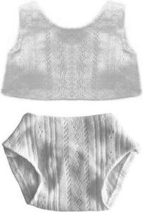 €9.79 Ondergoed wit Paola Reina ondergoedset onderbroek hemd poppenkleding poppenkleren