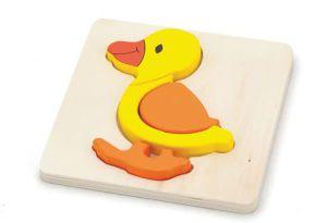 €4.99 Viga Toys houten puzzel eend hout