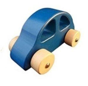 Houten grijpauto grijp auto wagen hout blauw