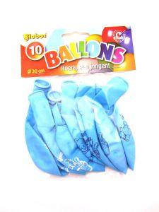 €2,50 Ballonnen geboorte Hoera een jongen ballon blauw