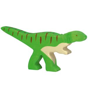 €10.95 Holztiger houten Allosaurus dinosaurus hout 21cm