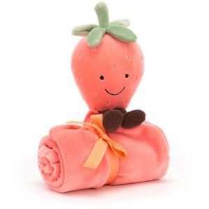 €20,89 Jellycat Aardbei knuffeldoek 34cm  (Amuseable Strawberry Soother)
