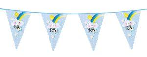 €2.50 Vlaggetjes vlag vlaggenlijn blauw geboorte geboortebord jongen 6 meter