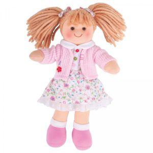 €11,89 Bigjigs stoffen pop stof Poppy lappen popje 28 cm Doll
