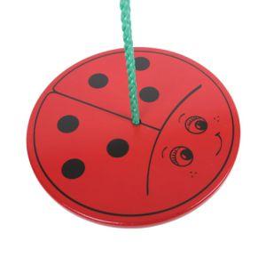 €12,99 Bigjigs houten ronde schommel hout Lieveheersbeestje swing ladybird