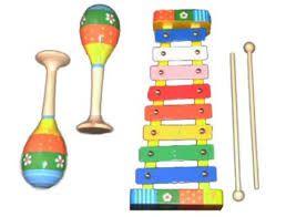 €16.49 Muziekset hout muziek houten instrumenten in kist