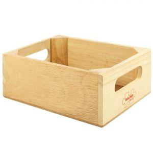 €4.49 Bigjigs houten voedselkrat kist krat hout keukentje winkeltje