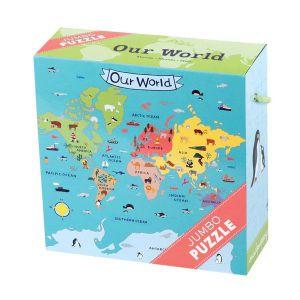 €16,99 Mudpuppy jumbo puzzel Our world 25 stukjes onze wereld