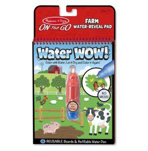 €6,89 Melissa & Doug Water WOW herbruikbaar kleurboek kleuren met water tekenboek tekenblok boerderij farm reusable