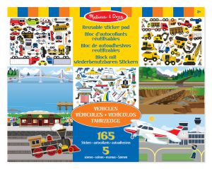 €6,89 Melissa & Doug herbruikbaar stickervel voertuigen sticker reusable herbruikbare stickers raamstickers