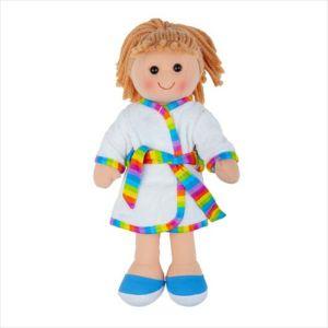 Bigjigs stoffen pop Michelle 34 cm stof lappen popje doll