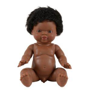 €21.99 Paola Reina pop Gordi donkere jongen met krullend haar 34cm jongenspop minikane