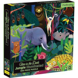 Mudpuppy Glow in the dark Jungle puzzel 500 stukjes