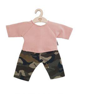 €17,95 Hollie kledingset shirt en broek Camouflage Dusty Rose voor gordi 34cm poppenkleding poppenkleren