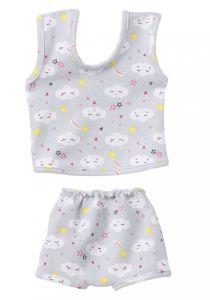 €8,95 Schwenk ondergoed voor pop grijs met wolkjes poppenkleren poppenkleding Paola Reina gordi