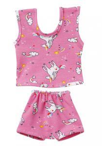 €8,95 Schwenk ondergoed voor pop roze unicorn / eenhoorn 30-34 cm poppenkleren poppenkleding Paola Reina gordi