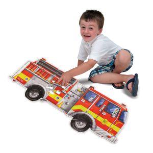 Melissa & Doug vloerpuzzel brandweerauto puzzel brandweer