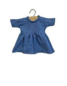 €21,99 Minikane jurk Faustine denim met stippen voor pop Amigas 32cm