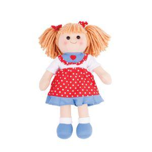 Bigjigs stoffen pop stof Emily lappen popje 34 cm Doll