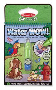 €6,89 Water WOW Melissa Doug tekenboek tekenblok kleurboek met water dieren animals herbruikbaar reusable