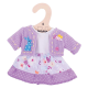 €7,49 Bigjigs paarse jurk met vestje (S) Lilac Dress and Cardigan - Small poppenkleren poppenkleding kleertjes pop