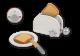 Jouéco broodrooster toaster wit grijs hout houten