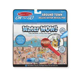 €10.99 Melissa & Doug Water Wow herbruikbaar kleurboek deluxe rond de stad reusable tekenboek tekenblok