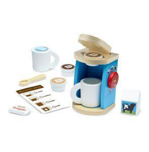 €18.99 Melissa & Doug houten espresso apparaat hout koffiezetapparaat met cupjes Wooden Brew & Serve Coffee Set