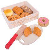 Bigjigs houten kistje snijbrood croissant donut brood broodjes snij hout