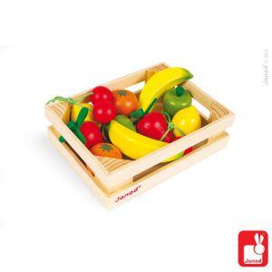 €18,95 Janod kistje met houten fruit kist