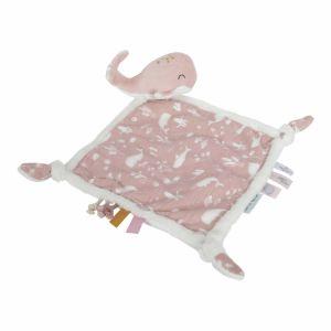 Little Dutch knuffeldoek roze walvis doudou tut tutdoekje knuffeldoekje baby kraamcadeau
