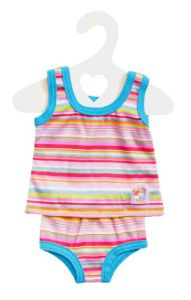 €7,99 Heless ondergoed blauw/gestreept voor 34 cm babypop poppenkleren poppenkleding poppenkleertjes