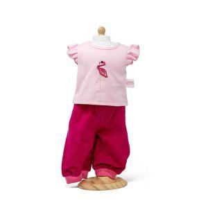 €12,99 MiniMommy Corduroy broek met flamingo shirt 33-37cm poppenkleding poppenkleren poppenkleertjes