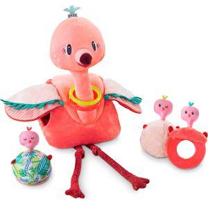 €38,99 Lilliputiens Anaïs flamingo met haar 3 baby's knuffel rammelaar bijtring spiegeltje
