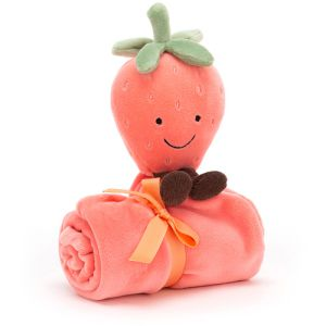 €20,89 Jellycat Aardbei knuffeldoek 34cm  (Amuseable Strawberry Soother)