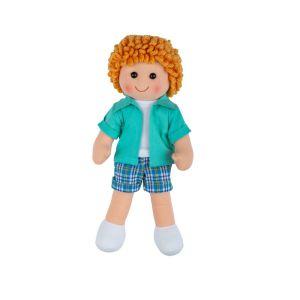 €11,89 Bigjigs stoffen pop Jacob 28 cm lappen popje stof jongen jongenspop doll