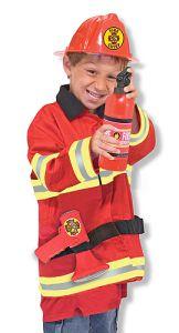 Melissa & Doug verkleedkleding brandweer verkleedset verkleedkleren