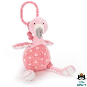 €19.95 Jellycat Flamingo bibber knuffel 22cm (Lulu Flamingo Jitter) buggyhanger